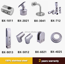 stainless steel stair balustrade handrail fitting for outdoor step