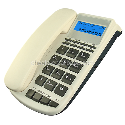 european wall-mounted analog caller id phone set