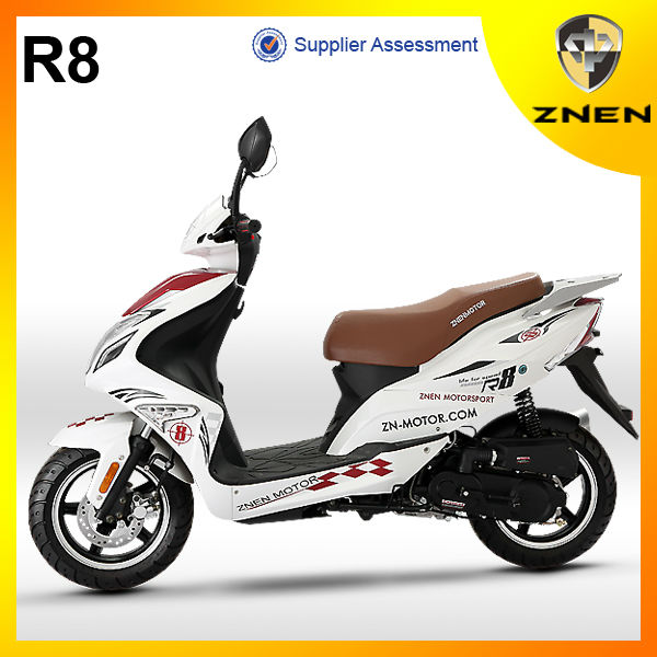 207 New Patent Sporty Model with EEC,EPA,DOT European Style 50cc and 125cc Scooter from China