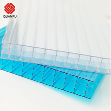 10-year Warranty polycarbonate hollow sheet greenhouse roofing material panel for roofing sheets