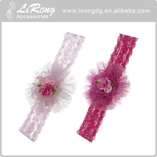 Colorful fabric flower head band, hair accessories for baby girls