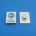 Rectangle Shape 18K Gold 100th Year Of Zayed UAE magnetic lapel pin badges