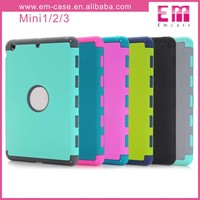 double color pc silicone armor case for ipad air