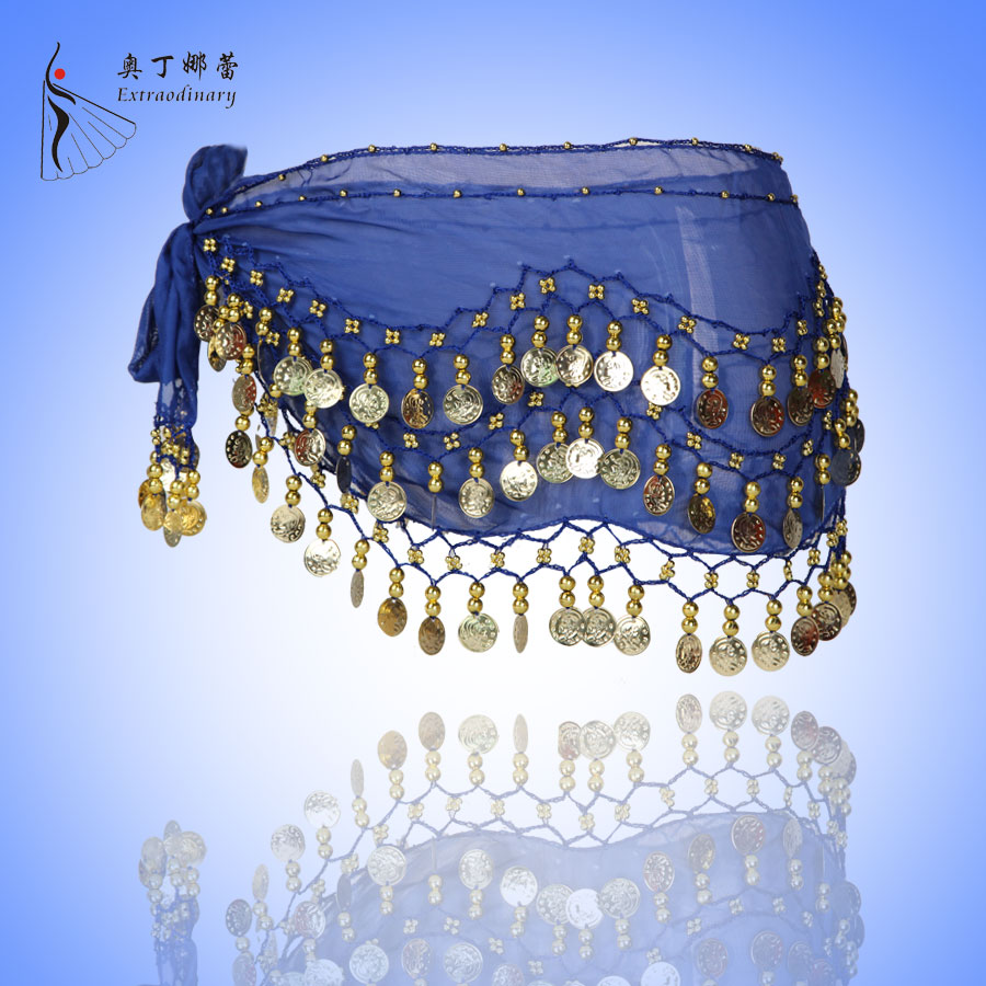 HOT! Multicolor Sequins Coin Sexy Hip Scarf Belly Dancing