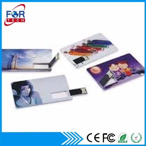 Unremovable File Cheapest Price Fast Delivery Card USB Flash Drivers with Two Sides Logo Printing