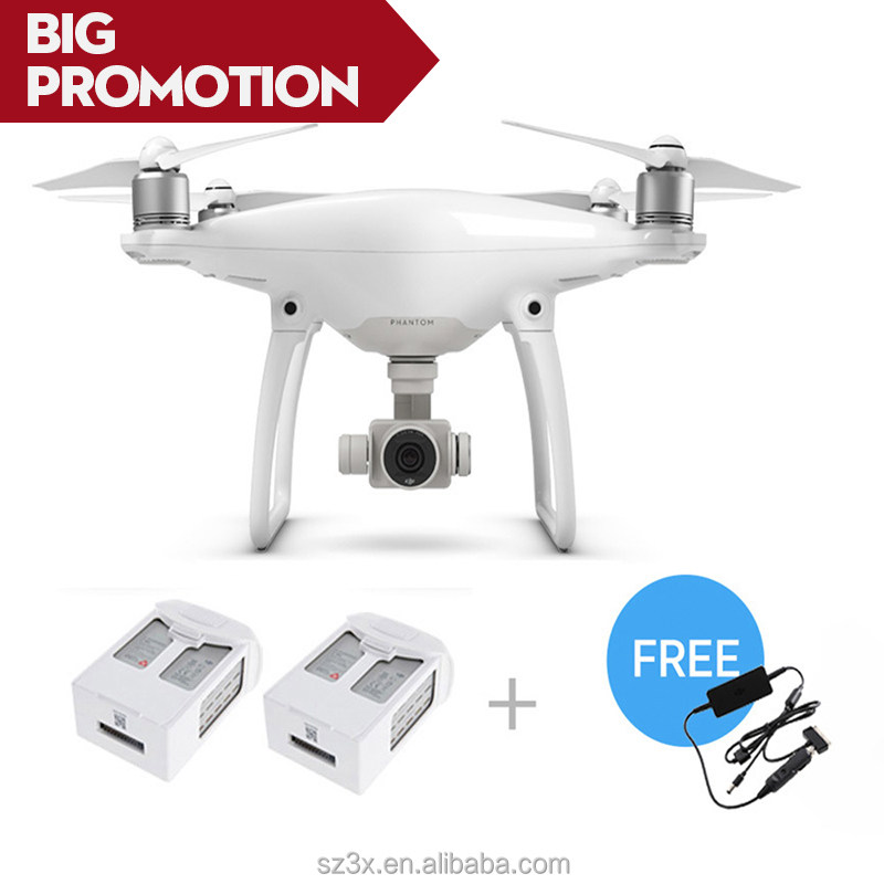 The Newest Original DJI Phantom 4 RC Helicopter drone + Two Extra Batteries + free Car Charger