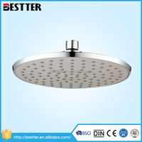 High quality ABS/TPR toilet rainfall water saving overhead shower head