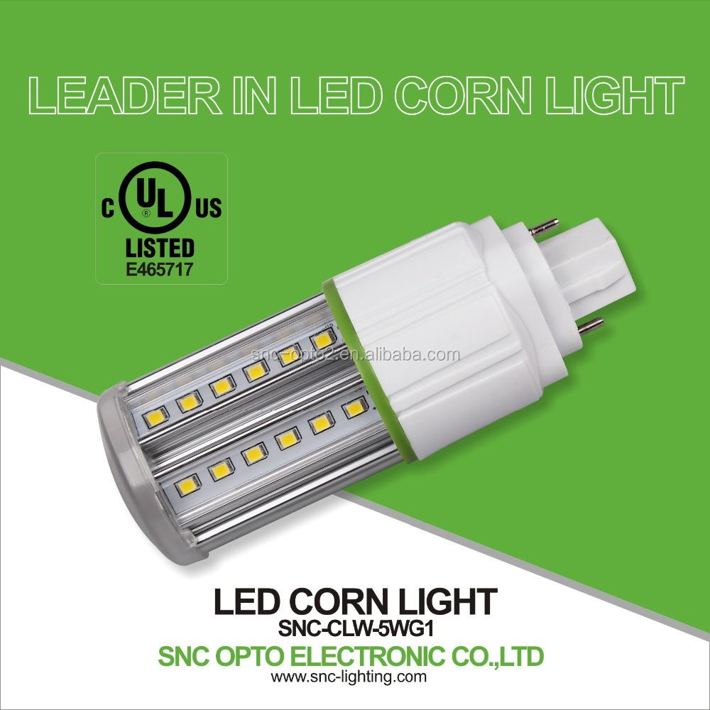 SNC parking lot led lighting IP64 dustproof 5W G24 led corn bulb light with UL cUL approved 5 years warranty