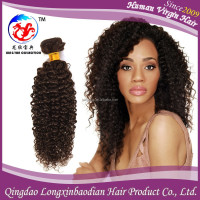 LXBD Wholesale Hot Selling Natural Color Deep Curl Cuticle Remy Indian Temple Unprocessed Virgin Human Hair Weave On