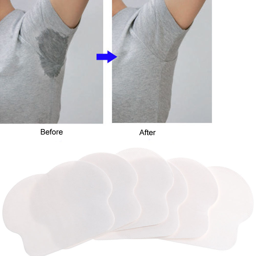 12PC Women Men Disposable Underarm Armpit Sweat Pads Absorbing Anti Perspiration Tools