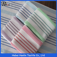 43x68cm yarn dyed woven white cotton waffle weave kitchen towel