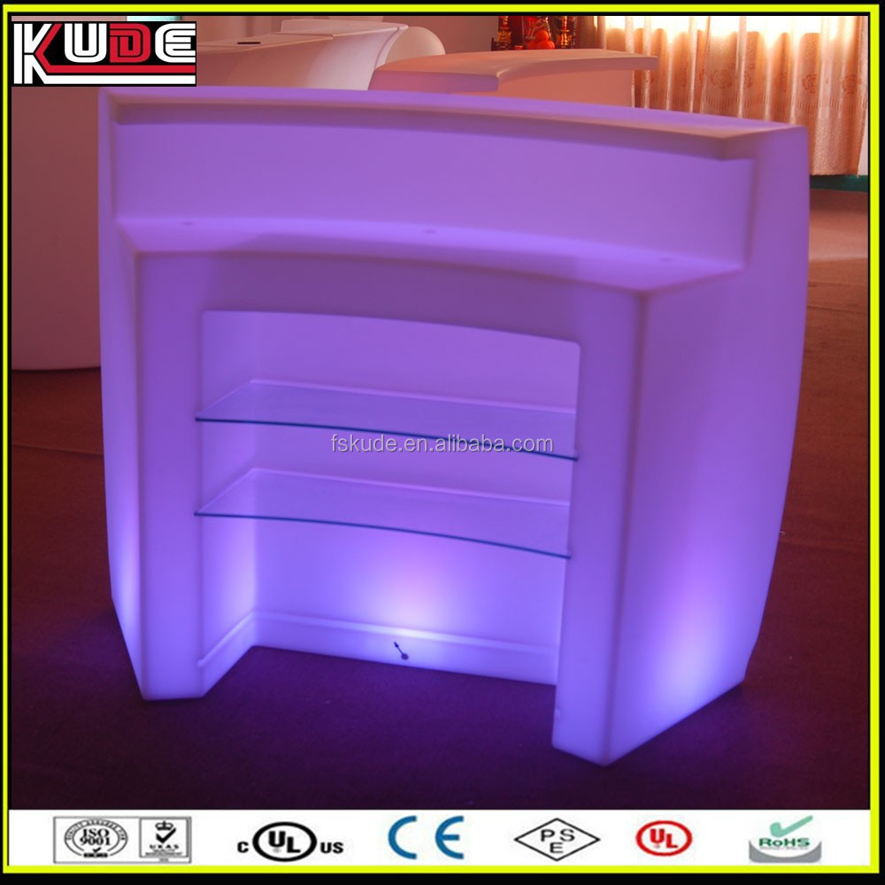 restaurant lighted bar counter top with modern design