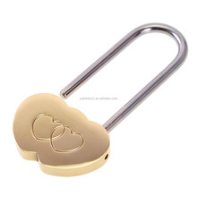 Solid Brass Love Lock Wish Lock Double Heart Padlock