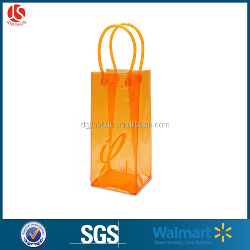 China Factory Customized Best Selling High Quality Clear Plastic Pvc Packaging Wine Cooler Bag