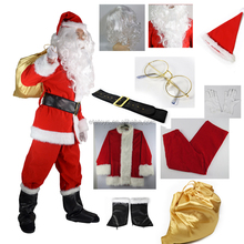 mascot costume for adult,Father Christmas costume Santa Claus Costumes for men