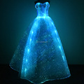 led lights prom dress glow in the dark formal dress luminous fiber optic fabric evening dress light up wedding dress
