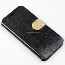 PU leather card holder stand leather smart magnetic cover case For SAM galaxy S7