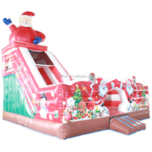 Big discount modern amusement Christmas jumpers bouncy castle for rental / inflatable jumping castle with slide comb for party