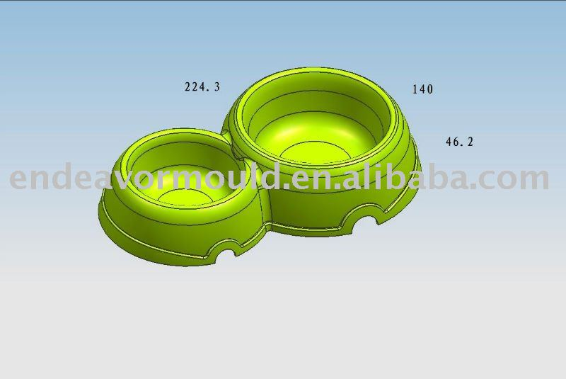 Plastic Injection Dog Bowl Molding