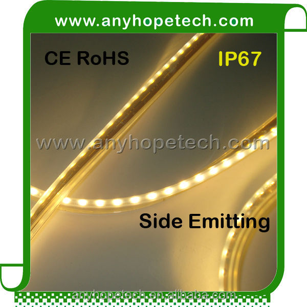 12V 3000K SMD335 96 led per meter Waterproof Side Emitting LED Light Strips