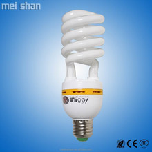 18w fluorescent CFL half spiral shape energy saving with e27/e14/b22 lamp