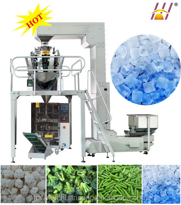 Combined Weighing Full Automatic Packaging system for ice cube, frozen vegetable