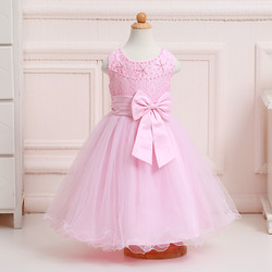 Kids fashion dresses Children beaded wedding dress flower girl dresses for kids LL6081