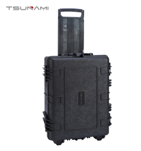 Durable plastic mobility case with wheels
