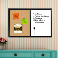 Hot sale ! wooden bulletin board combination magnetic writing board