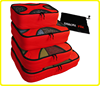 4 pcs set waterproof travel nylon suitcase packing cubes clothes organizer bags with polyester mesh