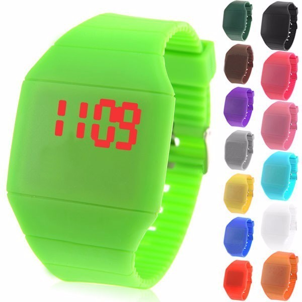 New loverly customs logo binary touch screen led watch