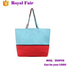 Candy Colors Neoprene Shopping tote bag Waterproof Beach bag