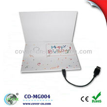 Recordable USB mp3 birthday greeting card with customized design for any size