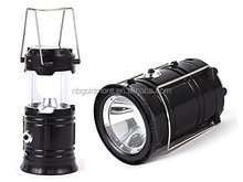 Goldmore2 Outdoor Solar Rechargeable Collapsible 1W + 6 LED Camping Lantern