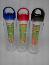BPA FREE fruit infuser 22oz water bottle plastic