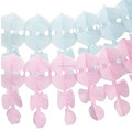 Pink and Blue Hanging Paper Party Decorations Garland Honeycombs garland For baby shower