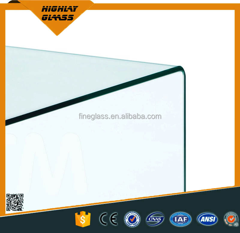 Tempered glass manufacturer 12mm curved/bnet glass stairs price