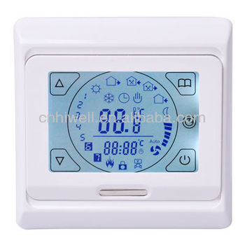 touch screen thermostat work with floor heating cable heating film16A 230VAC