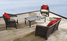 Rattan outdoor furniture Cheap poly rattan furniture with cushion & pillow