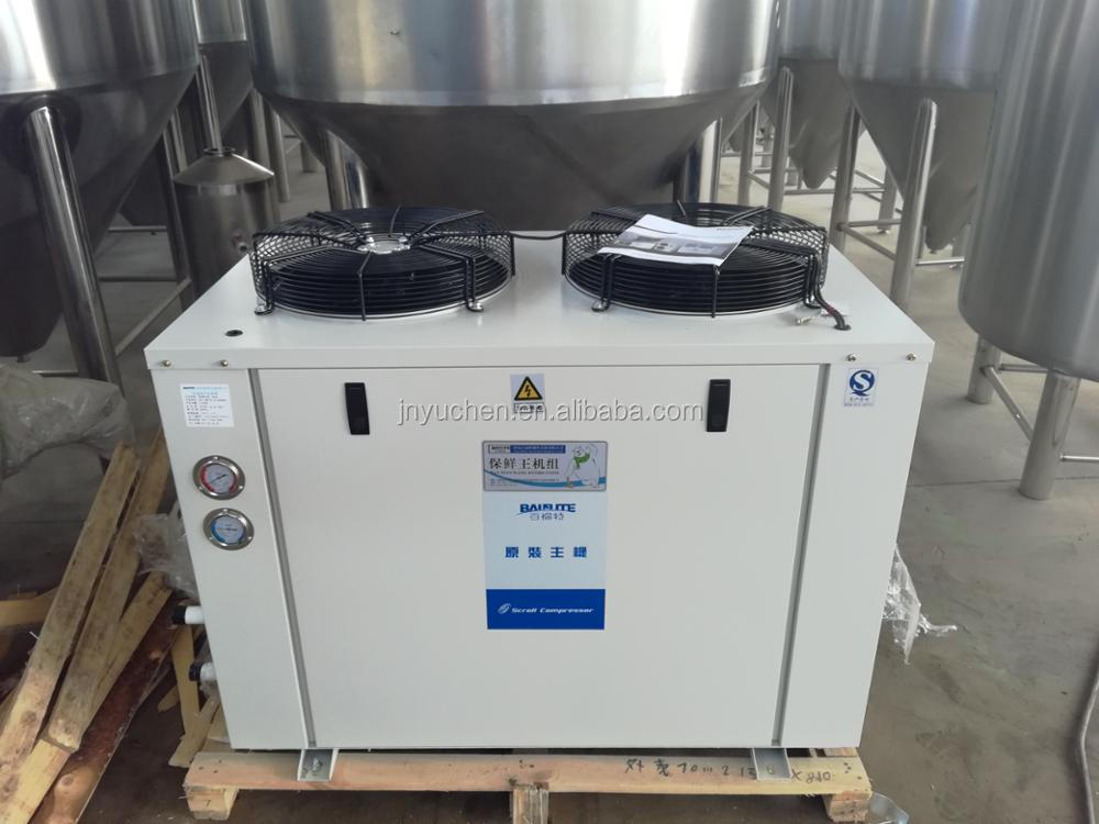Turnkey brewery production line, 1000L steam heating beer brewing system conical fermenter