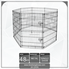"48"" Foldable 8 Panel Fence Dog Exercise Pen"