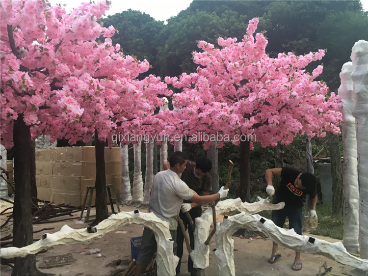2017 wholesale wedding or party decorative plastic cherry blossom tree wholesale