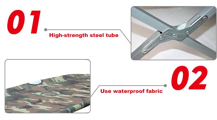 높은 수준의 일반 사용 군사 야외 장비 캠핑 침대 침대