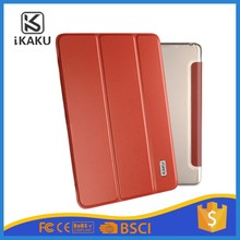 KAKU New Product 3 Folding shockproof pu flip tablet cases for 12.9 inch ipad pro carbon fiber pc leather case with cover