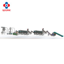 Washing line for used plastic recycling PP PE LDPE film bag scrap crushing washing machine