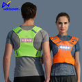 luminous cheap glowing fashion design fluorescent green reflective cool running vest with led light for night sport