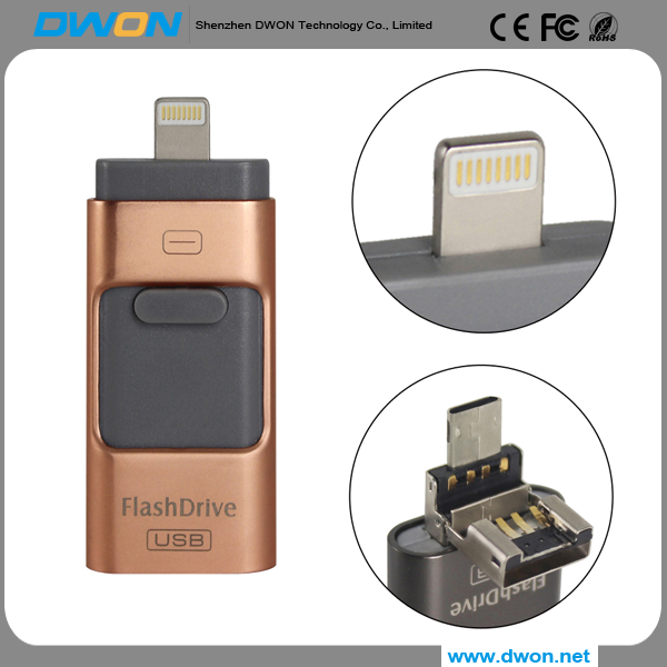 2017 new products Promotional Custom Otg USB Flash Drive/USB Memory/USB Stick, Mini USB 3.0 Flash Drive 8gb