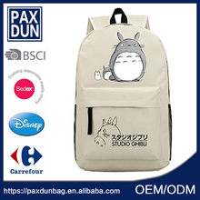 OEM 2D Cartoon Totoro School Cheap Knapsack