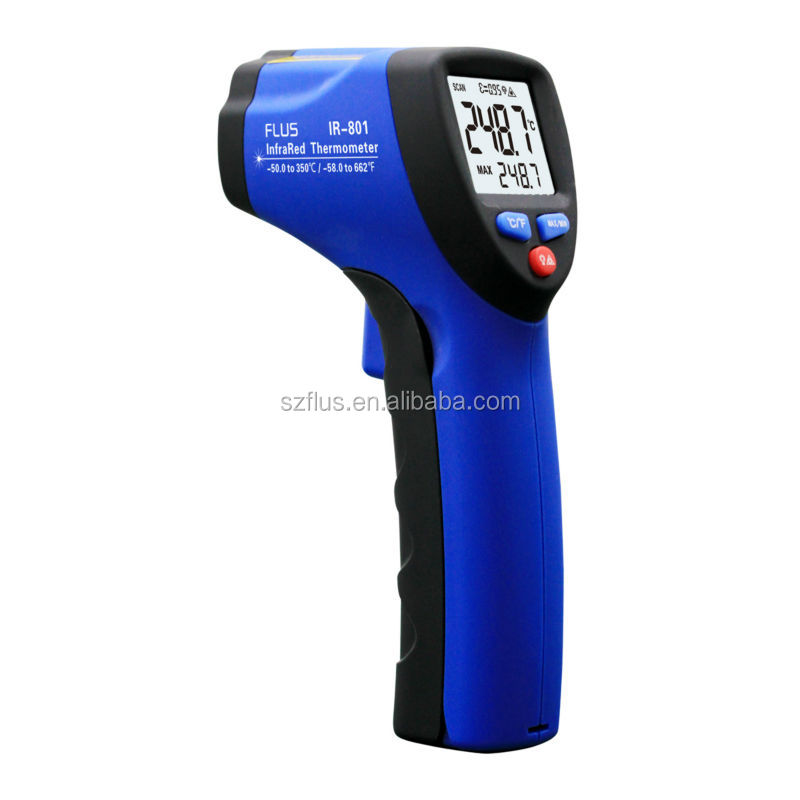 Digital infrared thermometer for measuring furnace temperature