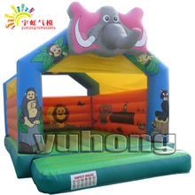 elephant animals inflatable jumping bouncer indoor playground castle